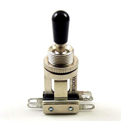 Switchcraft 3-Way Short Toggle Switch w/Genuine Switchcraft Black Tip