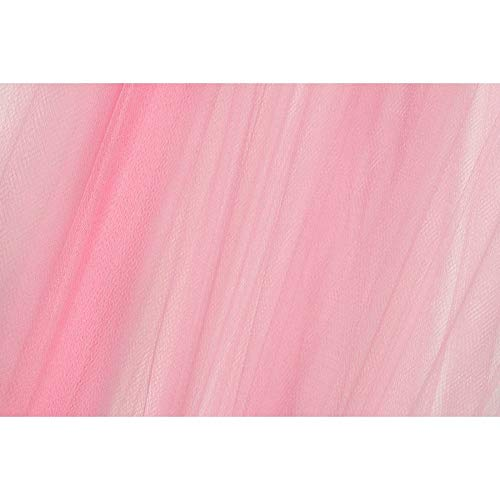 Tessuto Tulle Tinta Unita a Metro alto 300 cm - Rosa