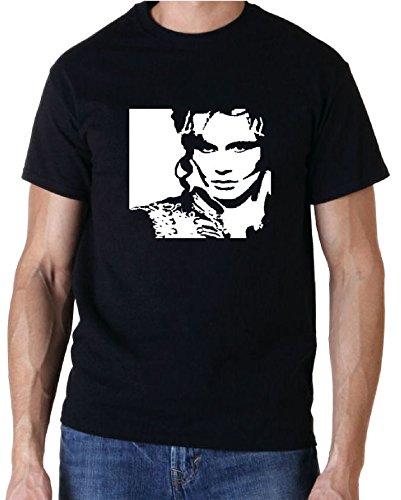 Men's Adam Ant Mono Print T-shirt, Black, Gildan Cotton, S to XXL