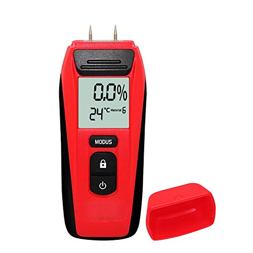 Moisture Meter,Digital Wood Moisture Meter Tester for Wood LCD Display...