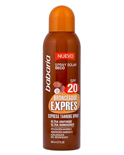 BABARIA bronceador express spf 20 spray 200 ml