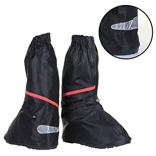 Waterproof Boot Covers, Anti Slip Motorcycle Rain Gear Women 8.5-9.5 Men 7-8