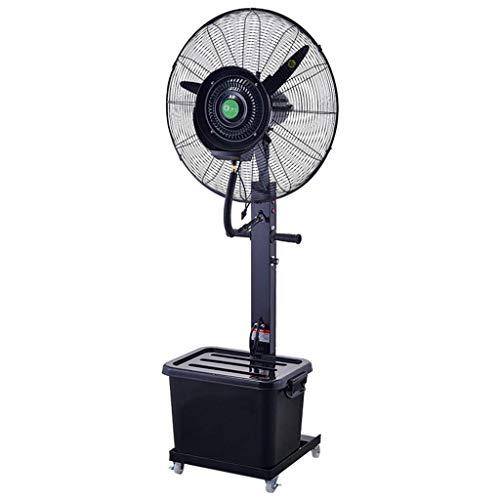 CUIJU Ventilador de Pedestal Ventilador de Tambor Humidificador Ventilador de pulverización de nebulización Industrial Ventilador de Empuje Manual oscilante con ruedas/40L de Agua
