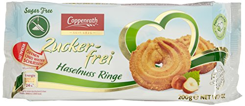 Coppenrath Haselnuss-Ringe zuckerfrei, 7er Pack (7 x 200 g)