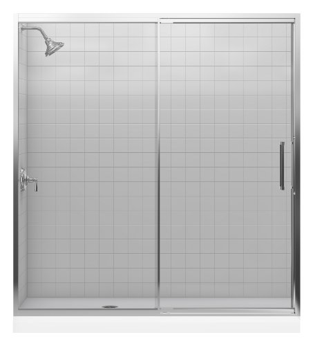 Lowest Price! Kohler K-705826-L-SH Lattis 3/8 Pivot Door, Bright Silver