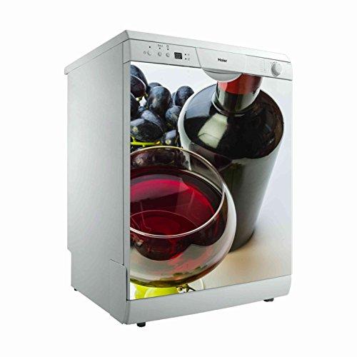 Vinilo para Lavavajillas Vinoteca | Varias Medidas 65x75cm | Adhesivo Resistente y de Facil Aplicación | Pegatina Adhesiva Decorativa de Diseño Elegante