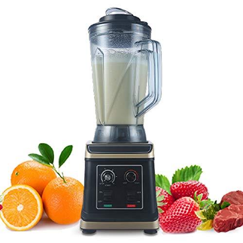 Snelle blender voor mixer, hakmolen, sappen, shakes en smoothies, intelligent snelheidsregelsysteem, aan/uit-timer