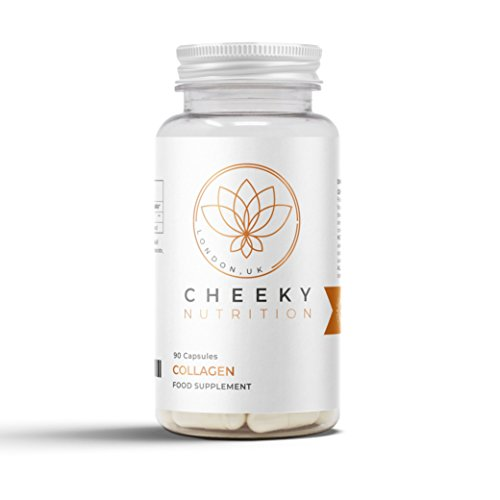 Collagen Hydrolysed Supplement, 90 Capsules. UK Manufactured by Cheeky Nutrition