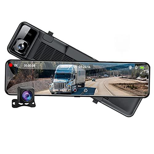 2K Car Dash Kamera Spiegel 12 Zoll Touch Driving Recorder Nachtsicht Dashcam Dvrs Unterstützen 1080P Rückfahrkamera