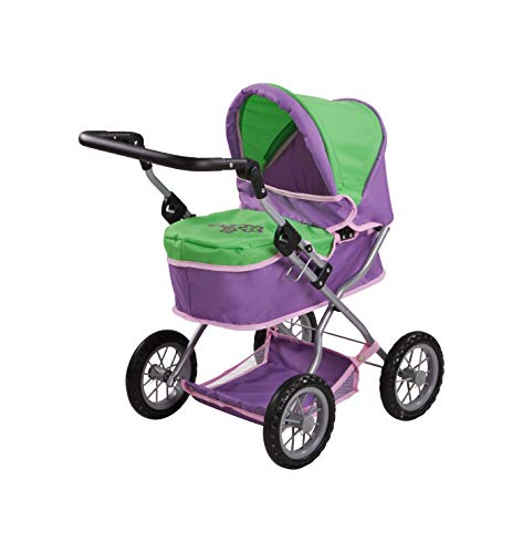 Knorrtoys 63432 - Puppenwagen First - Plum and Green
