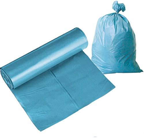 25 bolsas de basura, bolsas de basura de 120 litros, resistentes, grandes y resistentes al desgarro, bolsas de basura azules, bolsas de basura, bolsas de basura