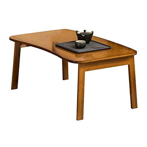 KXBYMX Table Pliante Simple lit Pliant en Bambou Table des Tables Pliantes de Table pour Ordinateur Portable Portable lit (Taille : 80 * 50 * 34cm)