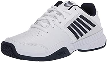 K-Swiss Men's Court Express Tennis Shoe (White/Navy, 12)