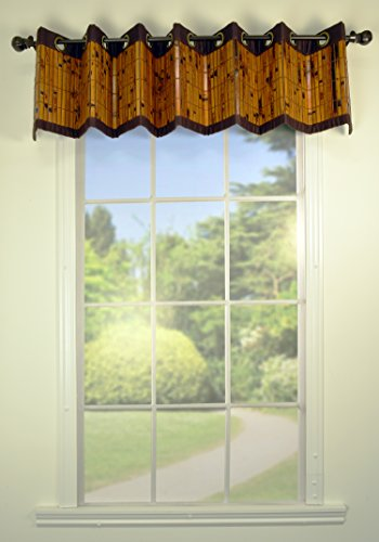 Versailles Home Fashions Bamboo Valance, 72 by 12-Inch, Espresso