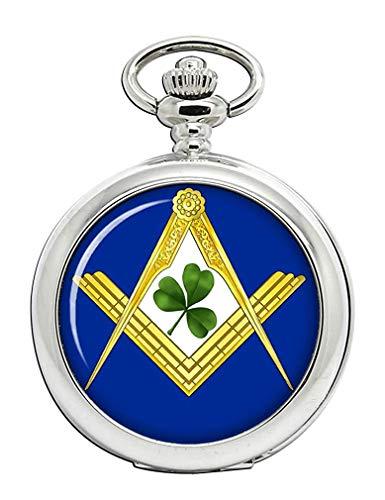 Irish albañiles Masónica Full Hunter reloj de bolsillo