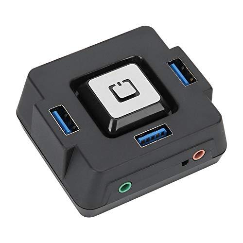Amplia compatibilidad Estabilidad Interruptor de alimentación Externo 3 en 1 Práctico Compacto Práctico para computadora de Escritorio