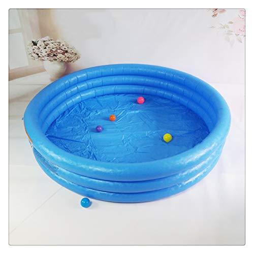 DFSDG Gran Piscina Azul Maciza para niños Piscinas 168 * 41 cm Bebé Inflable Ronda para Adultos Pool Pool