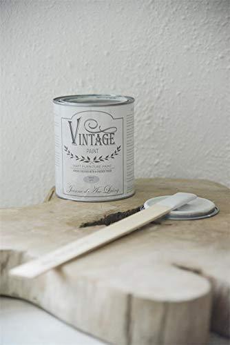 Jeanne d'Arc Living Vintage Paint Kreidefarbe 700 ml/23,6oz Chalk Kalkfarbe JDL Malen (Warm Cream)