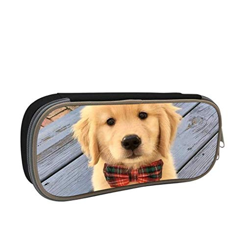 XCNGG Aufbewahrungstasche für Schreibwarenbeutel Pencil case,Large Capacity Cute Golden Retriever Student Pencil Box Stationery Bag, Multifunctional Zipper Storage Bag for Students and Adults, School