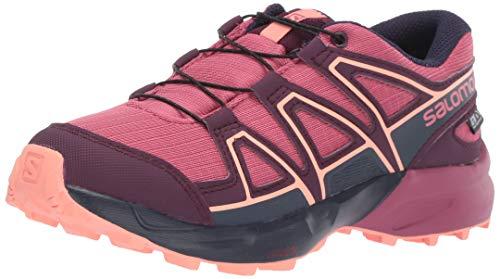 Salomon Kinder Speedcross, Trail Running Schuhe, ClimaSalomon Waterproof ,Violett,35 EU