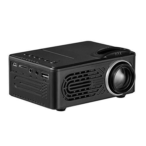 YUHUANG Proyector, Mini Proyector Portátil De Entretenimiento En El Hogar Es Compatible con HD 1080P Proyector-Negro De Conexión