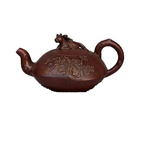 Fashion158 - Set da tè in Porcellana Antica, teiera Yixing Famous con Sabbia Viola, Fatto a Mano