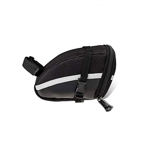 1PC Fahrrad-Sattel-Beutel Pannier Aufbewahrungstasche Fahrrad-REIT Pu Satteltasche, Fahrradtasche, Rücksitz-Speicher-Beutel, Fahrrad-Reparatur-Werkzeug-Taschen mit reflektierenden Streifen