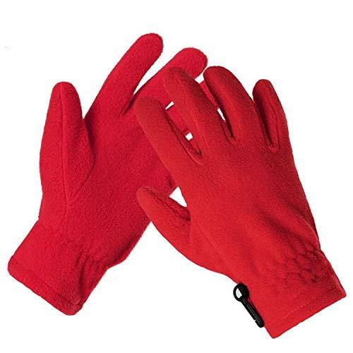 Winter Warme Fleece-Handschuhe Wincey kältefest Bergjagd für Männer und Frauen Handschuhe M-XL, Rot, M