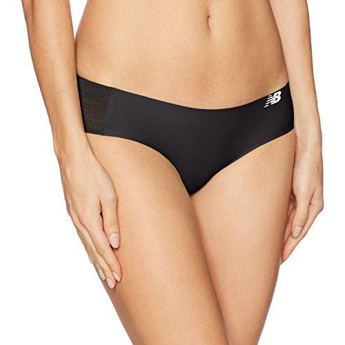 New Balance Women's Hybrid Soft Jersey mesh Panels Hipster Underwear (Pack of 1), Black, Large (14)