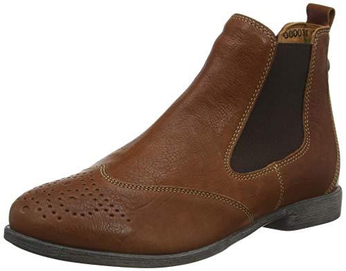 Think! Damen Agrat_3-000031 Leder Gefütterter, Nachhaltiger Chelsea Boots, 3000 Cognac, 40 EU