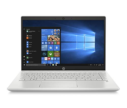 "HP-PC Pavilion 14-ce3034nl Notebook, Intel Core i5-1035G1, RAM 8 GB, SSD 512 GB, Grafica UHD Intel, Windows 10 Home, Schermo 14"" FHD Antiriflesso, Lettore Impronte Digitali, Lettore Micro SD, Argento"