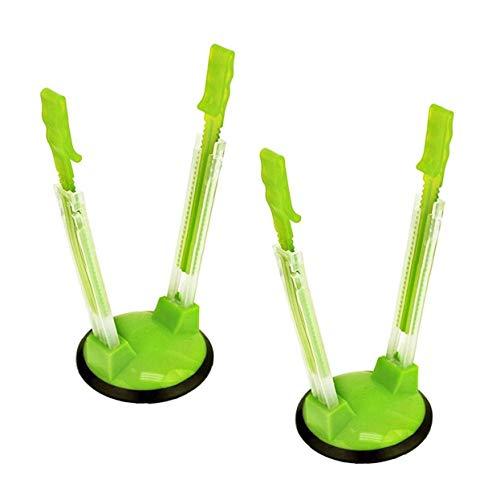 Lankater 2 Pcs Holgada del Rack Clip Manos Libres para Almacenamiento De Alimentos del Congelador Holgada Funda Bolsas Plástico del Soporte De Plástico Ideal Cocina Gadget