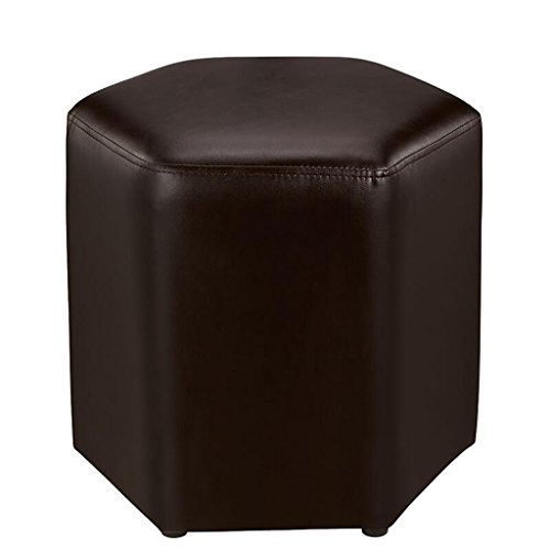 Tabouret de canapé Xuan - Worth Having Marron Clair Changer Le Tabouret de Chaussures Tabouret de Tabouret Simple en Cuir PU Simple hexagone Moderne