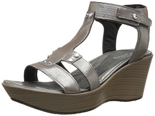 Naot Footwear Women's Flirt Wedge Silver Threads Lthr 11 M US