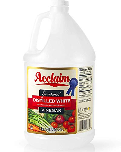 Acclaim All Natural Distilled White Vinegar, 128 Ounces (1 Gallon) - 5% Acidity