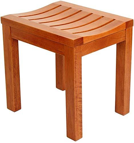 Taburete de Ducha Taburetones de baño, silla de ducha impermeable de madera de goma |Ayuda de baño |Seguridad para la bañera antideslizante |Para discapacitados, adultos mayores, bariátricos, 42 × 34