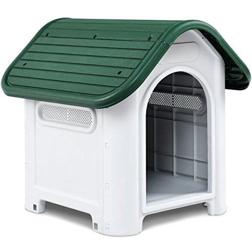 Magshion Up to 20 lb Plastic Outdoor Dog House Pet at Kennel Puppy Shelter...