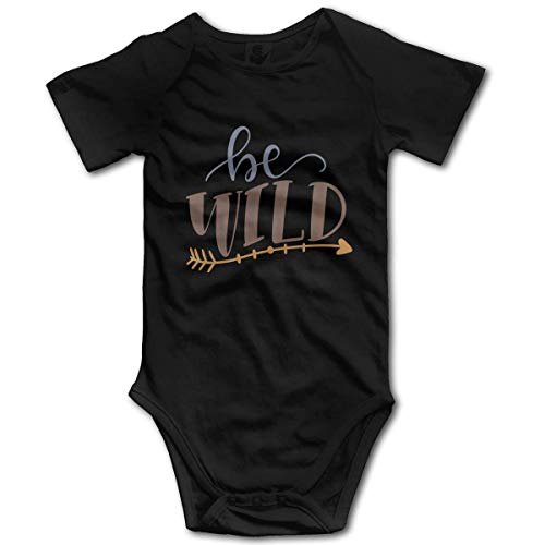 Promini Be Wild Baby Cotton Short Sleeve Onesies Bodysuit Jumpsuit, 9-12 Months, ZI10377