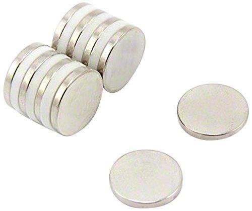 First4magnets F310-N52-10 15mm Durchmesser x 2mm dicker N52-Neodym-Magnet stärksten Grades-2,4kg Anziehungskraft (1 St-Packung), dia thick, 10 Stück