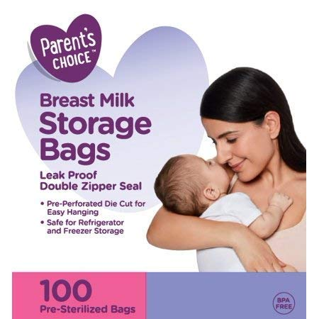 100 Parent's Choice Breast Milk Storage Bags