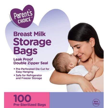 100 Parent's Choice Breast Milk Storage Bags