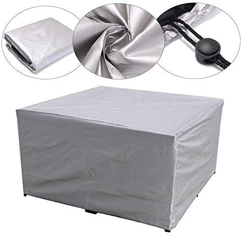 Abdeckungen Patiomöbeln, Heavy Duty Wasserdicht, Regen Schnee Staub Winddichte, Anti-UV, für Outdoor-Möbel Rechteckige Esstischen, die Spacegrau,XXXL