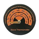 healthwen Nuevo, Horno de Tubo de Estufa de leña magnética, termómetro de Chimenea ecológico con sonda de sensibilidad, Herramienta para el hogar