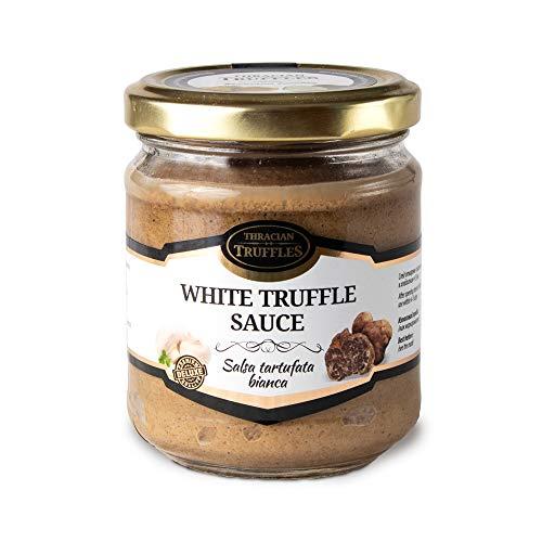 Weißen Trüffel Feinkost White Truffle Gourmet Trüffelcreme, die Delikatesse für Feinschmecker, Sauce für Spargel, Gemüse, Fisch & Fleisch, Geschenk Tartufata, Trüffelsoße weiß im glas (170g)