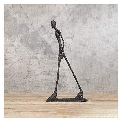 FEANG Skulptur Statue Moderne Einfache Giacometti Bronze Skulptur Abstrakt Dekoration Zubehör Zuwanderungsstatue Dekoration Dekoration Ornament (Color : Small 30cm)