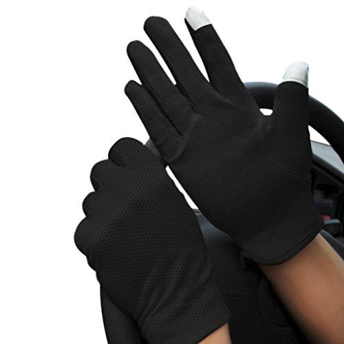 Dünne atmungsaktive Touchscreen-Handschuhe für Herren und Damen, leicht, Sommer, UV-Schutz, rutschfeste Baumwoll-Fäustlinge für Radfahren, Motorrad, Wandern, Laufen, Walken