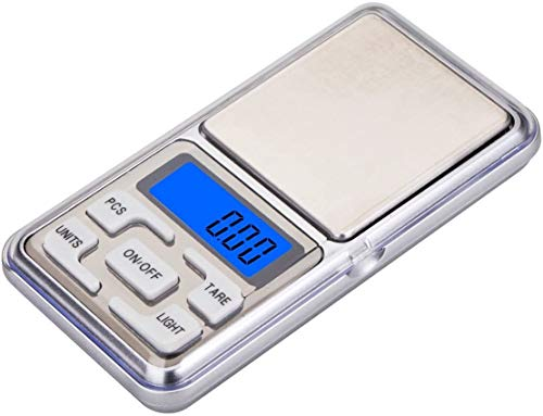 Báscula Digital de Precisión, Rango 0,01g a 500g, Balanza Portátil, Peso Joyero, Minerales, Monedas, Numismática, M3