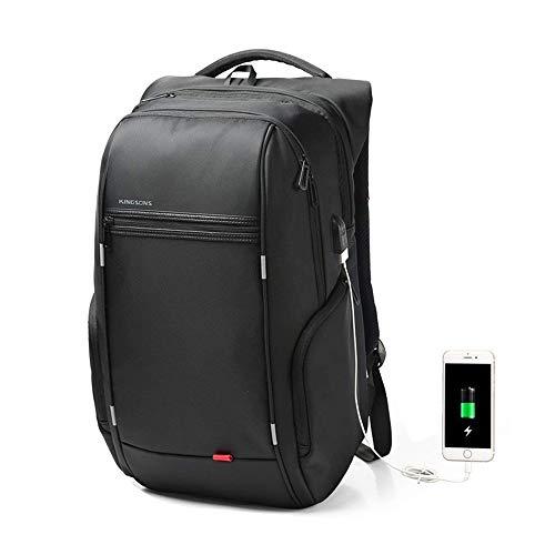 Kingsons Business Laptop-Rucksack, Anti Diebstahl Wasserdicht Notebook-Tasche mit USB Ladefunktion, Backpack/Schulrucksack/Daypack für Männer und Damen (17 Zoll A)