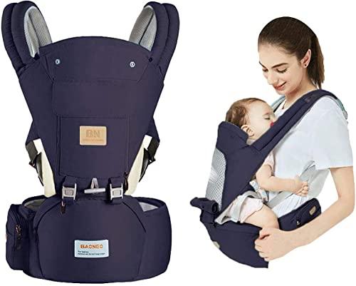 Portabebés para Recién nacidos a niños pequeños con asiento a la cadera - Mochila portabebés 3 en 1 para niños - Baby Sling Wrap - Transpirabley suave Urdimbre para bebés para todas las estaciones