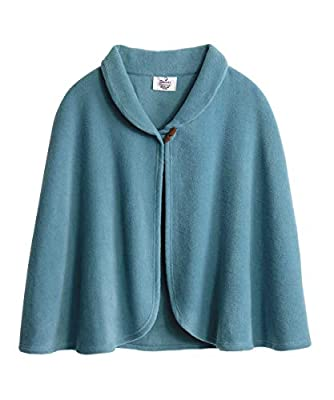 Silverts Disabled Adults & Elderly Needs Womens Warm Bed Jacket Cape Or Bed Shawl - Adriatic Blue